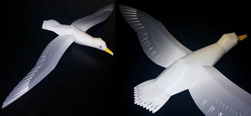 Птица чайка своими руками