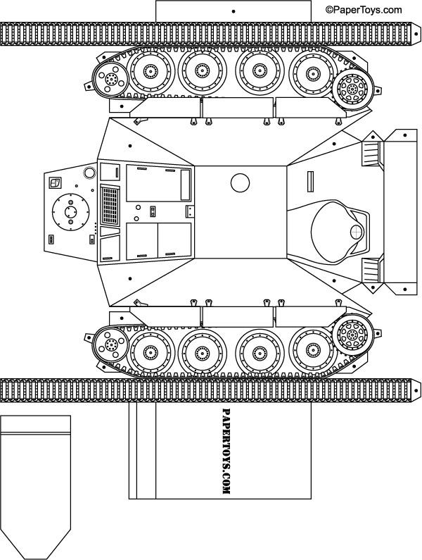 Сделать макет танка из бумаги своими руками 85